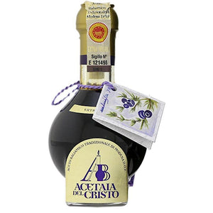 Traditional Balsamic Vinegar PDO guaranteed aged for at least 25 years in single wood Juniper barrels from Modena/Italy - medEATerraneo