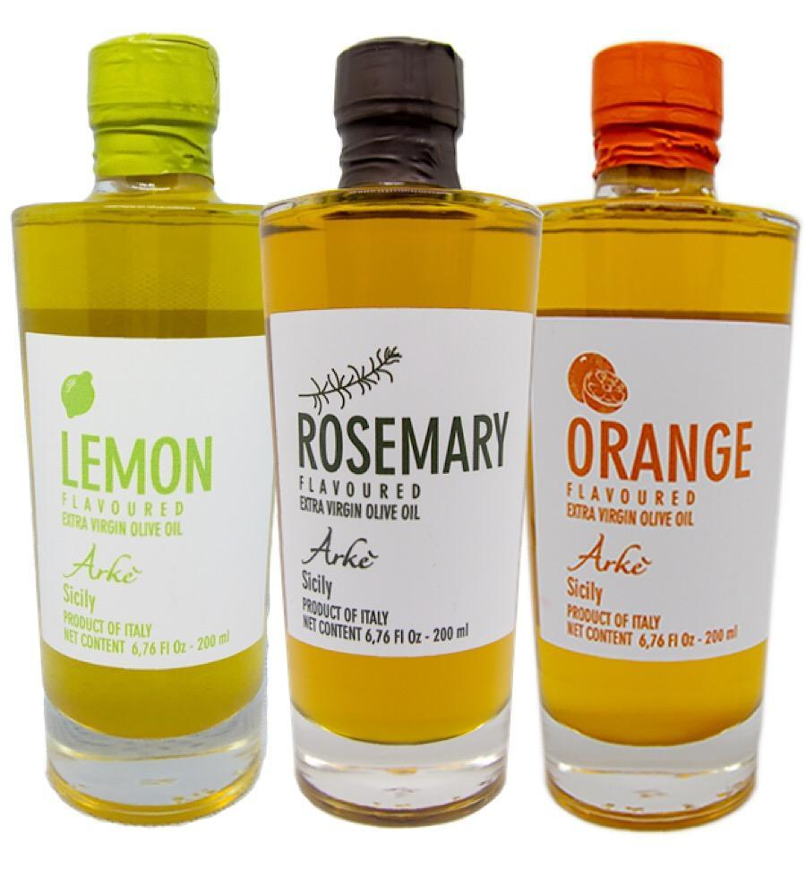 Lemon, Orange, Rosemary infused Extra Virgin Olive Oil from Sicily/Italy - Bundle