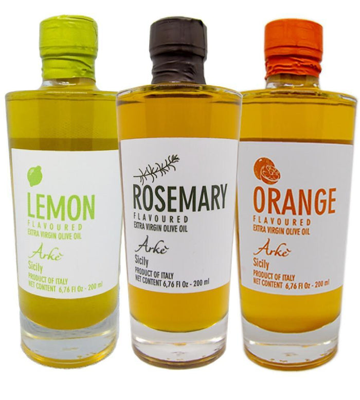 Lemon, Rosemary and Orange infused Extra Virgin Olive Oil from Sicily/Italy - Bundle