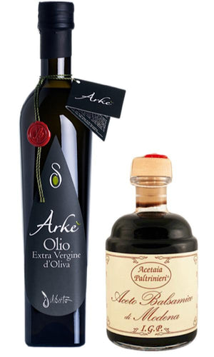Extra Virgin Olive Oil from Sicily/Italy and Balsamic Vinegar PGI from Modena - Bundle - medEATerraneo