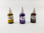Alcohol Inks, Made in India by BeyondInks Butterscotch Violet Hickory Pack2
