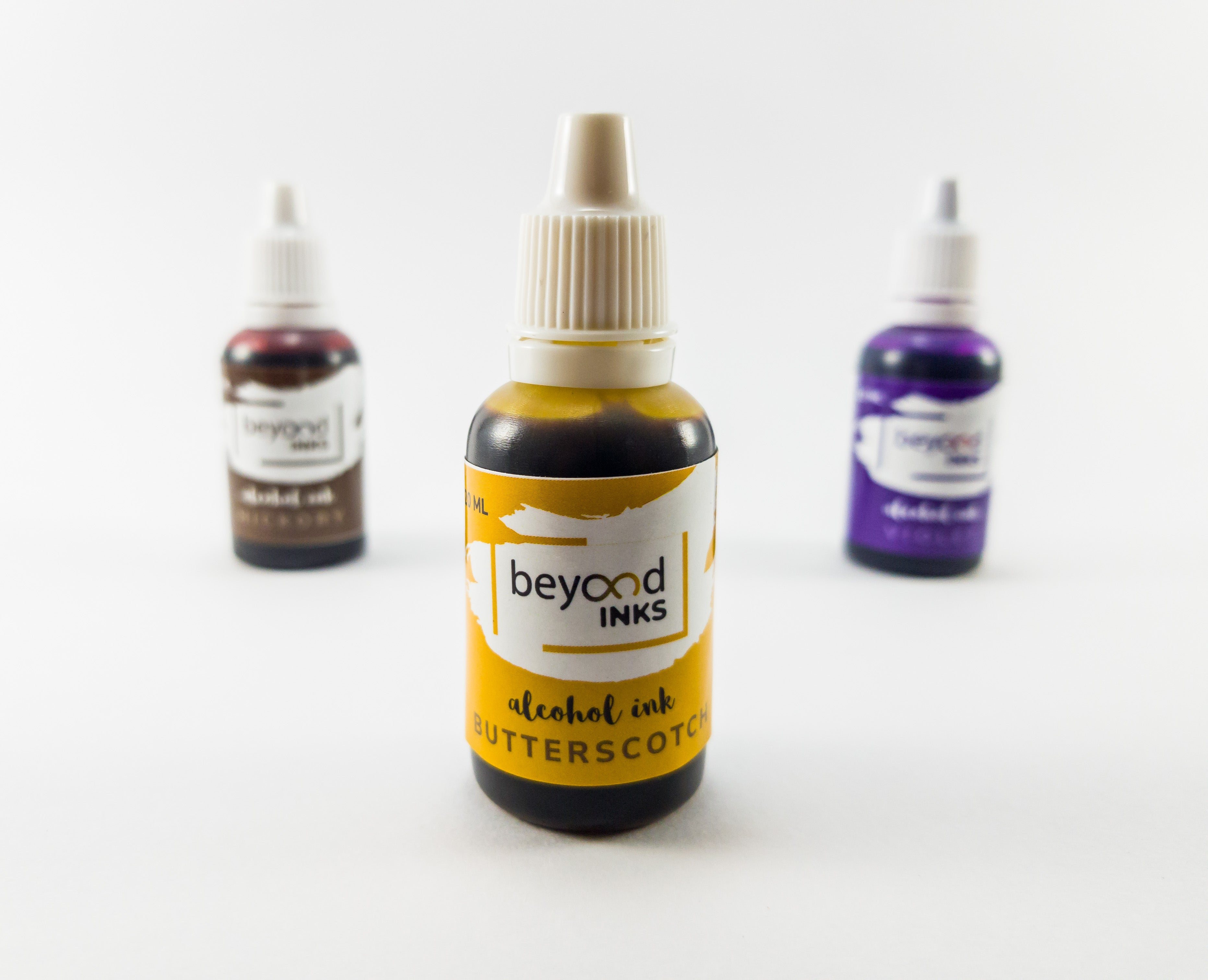 Alcohol Ink Pack 2 Butterscotch, Violet, Hickory by Beyond Inks