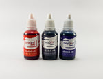 Alcohol Inks, Made in India by BeyondInks Crimson Shadow Indigo Pack3