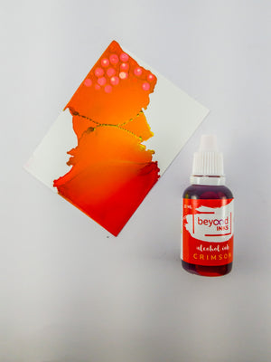 Alcohol Inks, Made in India by BeyondInks Crimson
