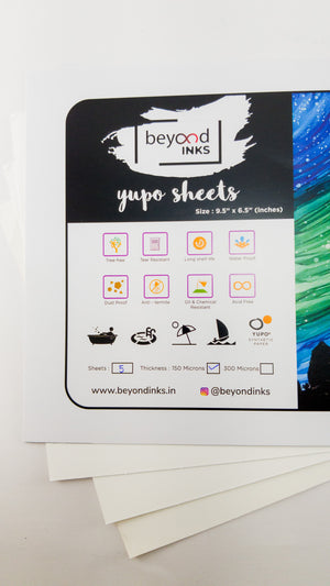 "YUPO - 6.5""X9.5""> A5, Individual Sheets 150 micron and 300 micron"