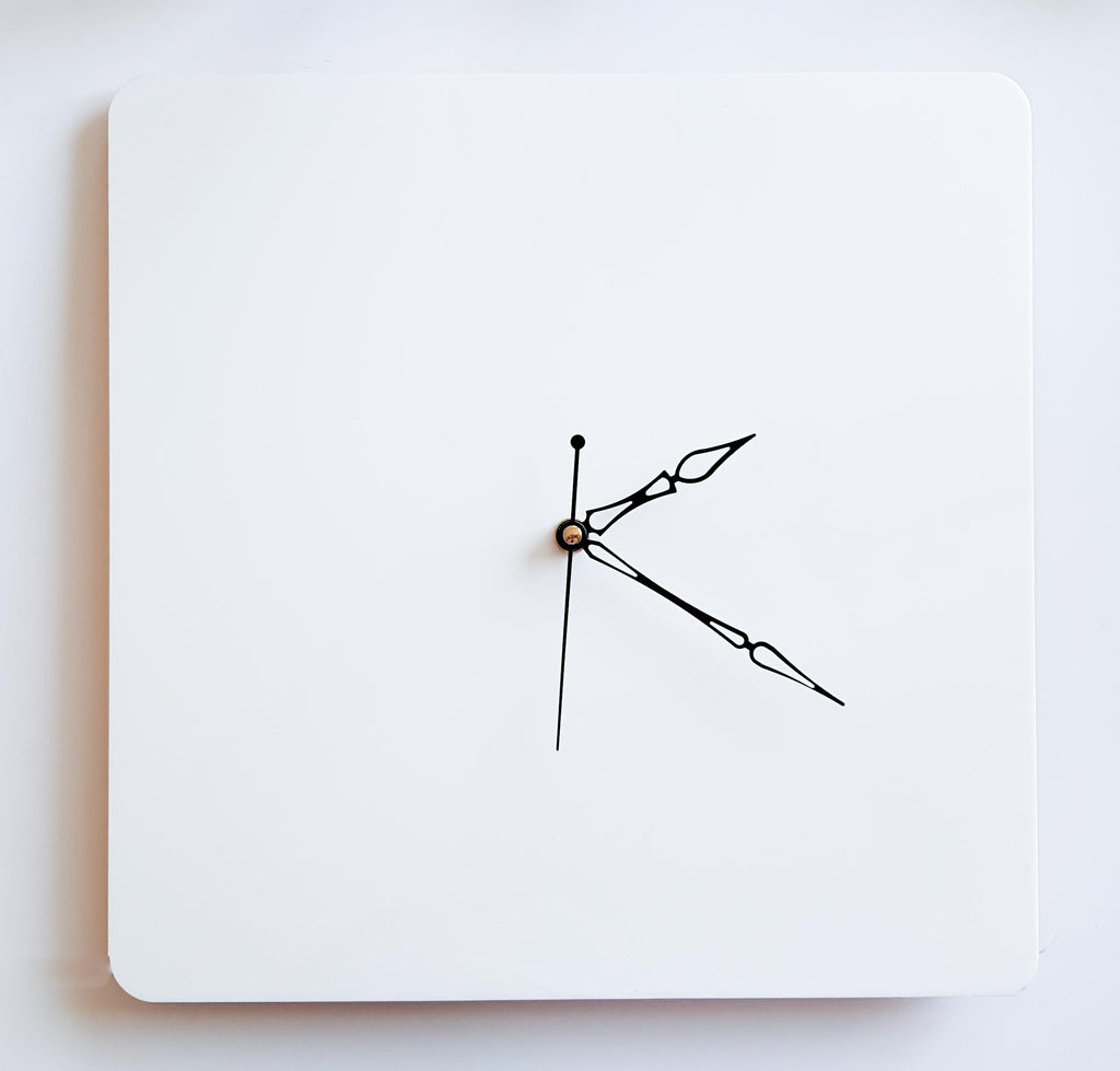White 12 inch DIY Square Clock