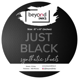 Just Black Synthetic Paper - Round - 10 Sheets (400 microns)