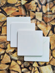 DIY Square Coasters - White