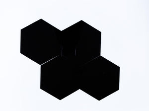 DIY Hexagon Coasters - Black