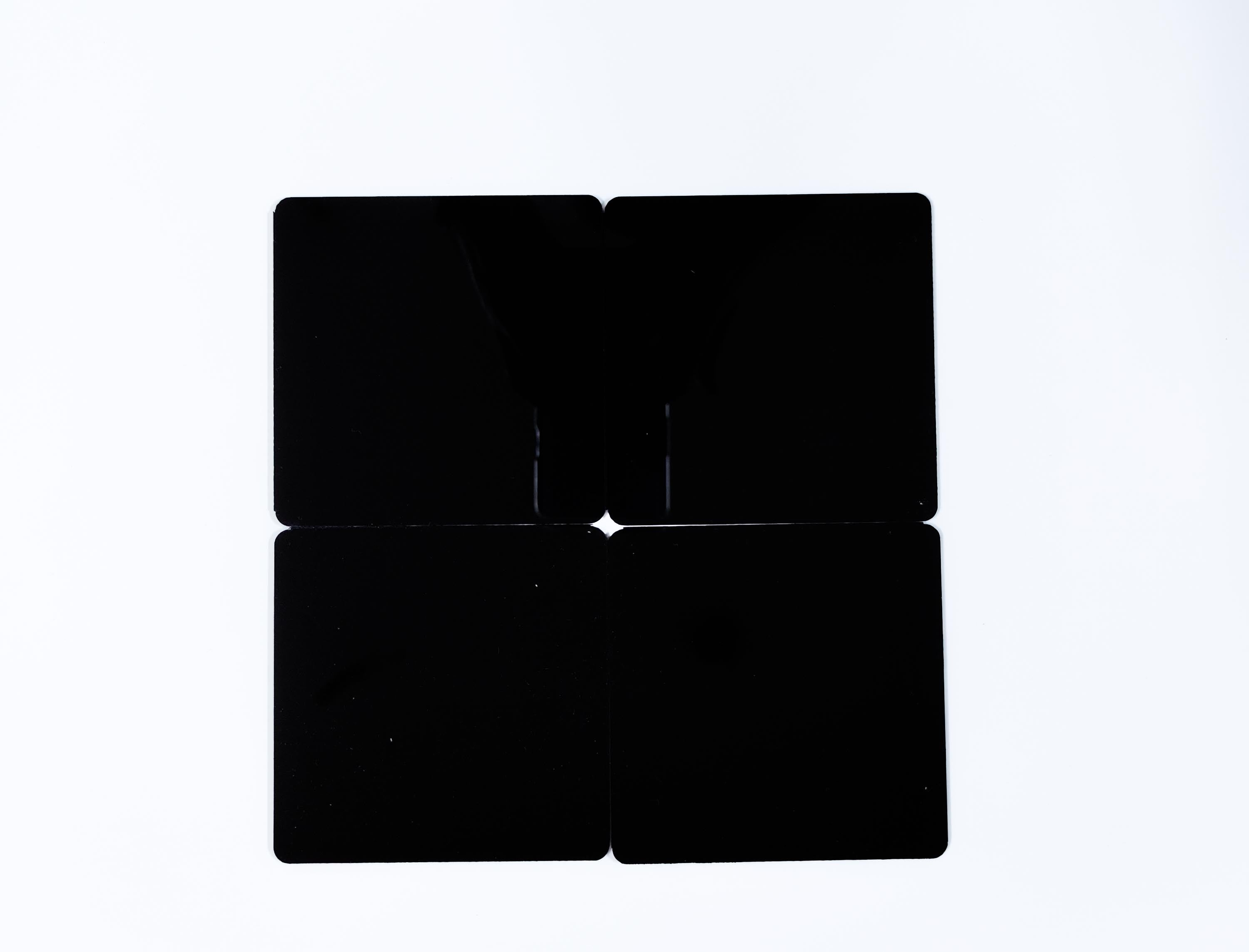 DIY Square Coasters - Black