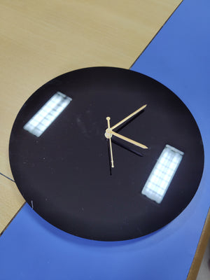 Black 12 inch DIY Round Clock