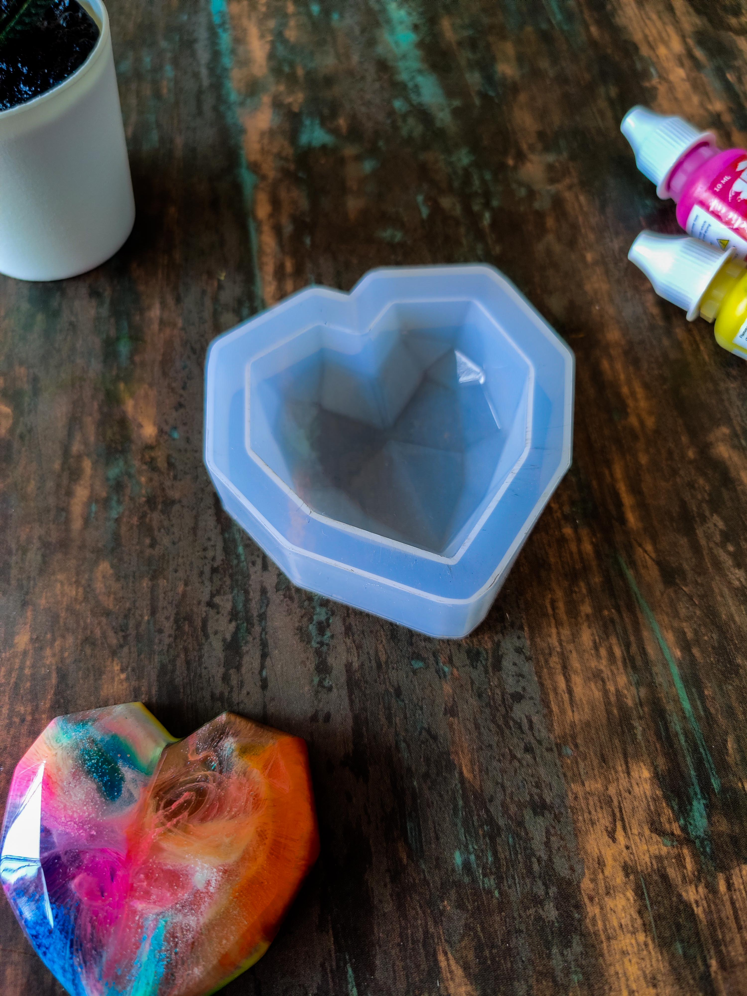 Heart Silicone Mould for Resin Art
