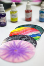 Alcohol ink Round coaster