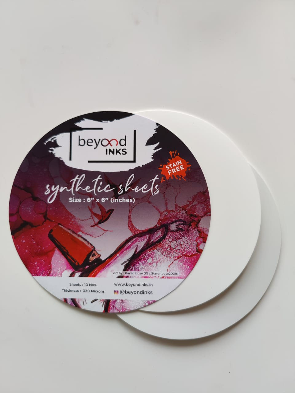 "BeyondInks Synthetic Paper - 6"" Circles- 10 Sheets (330 microns)"