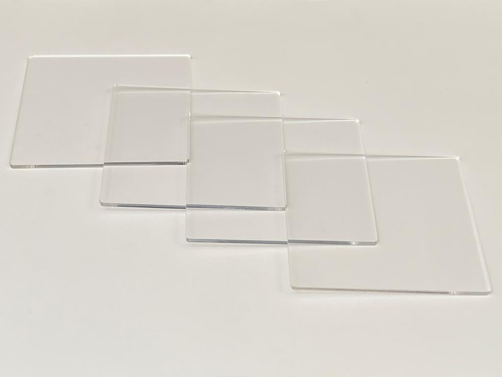 DIY Square Coasters - Transparent