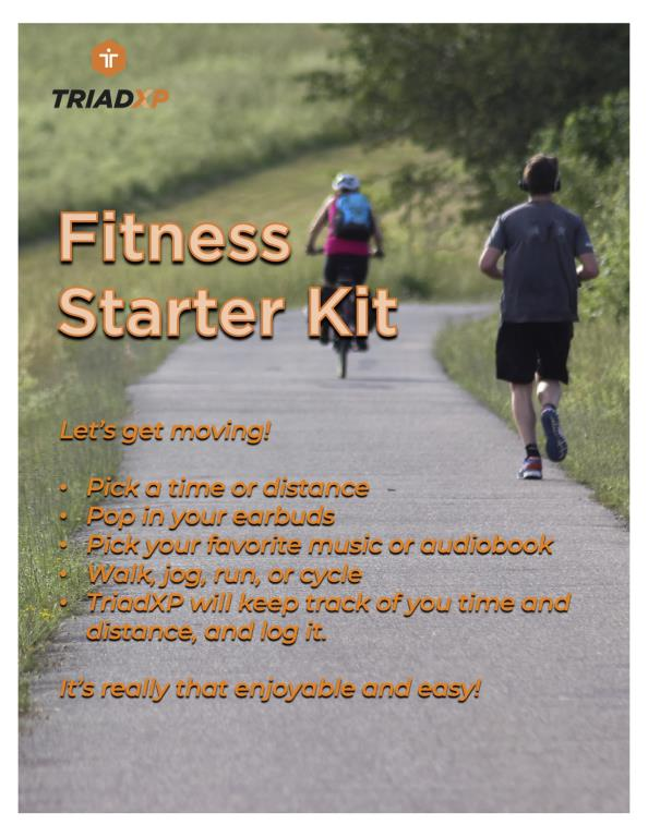 Fitness Starter Kit: Let's Get Moving! Walk, Jog, Run, Cycle to time or distance