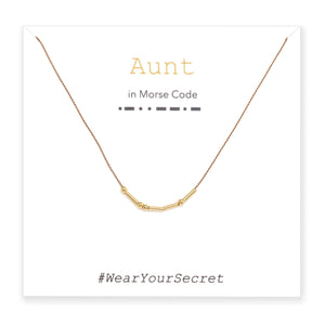Aunt Morse Code Jewelry Necklace and Bracelet