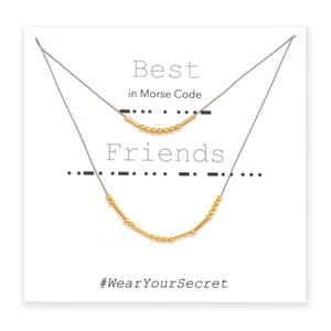 Best Friends BFFs Morse Code Jewelry Necklace and Bracelet