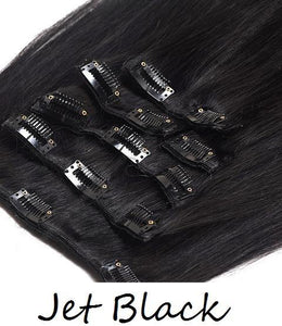 8 PIECE CLIP IN SET 120-160 GRAMS