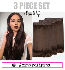 3 PIECE CLIP IN SET 210 GRAMS
