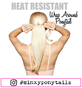 SYNTHETIC HEAT RESISTANT PONYTAIL
