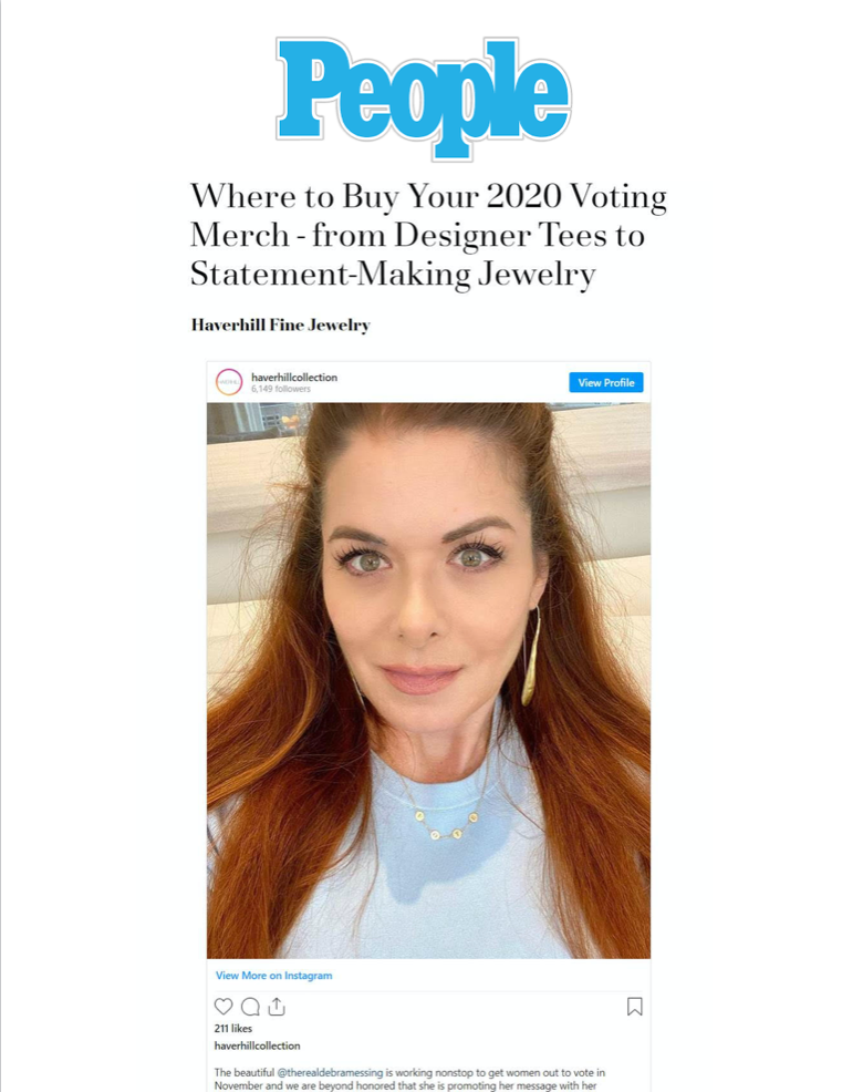 PEOPLE - Where to Buy Your 2020 Voting Merch - from Designer Tees to Statement-Making Jewelry