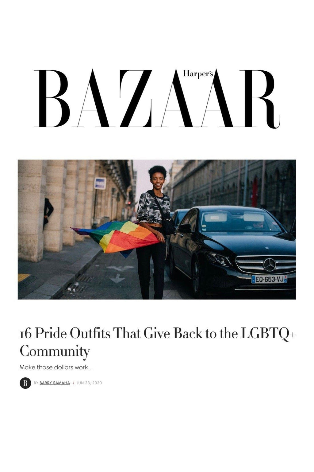 HARPER'S BAZAAR: 16 Pride Outfits That Give Back to the LGBTQ+ Community