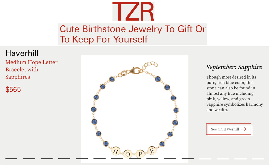 The Zoe Report: Cute Birthstone Jewelry to Gift or to Keep for Yourself