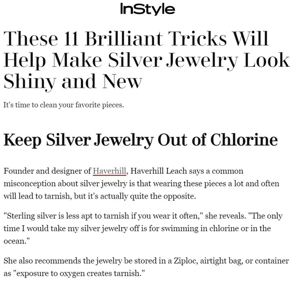 InStyle.com: These 11 Brilliant Tricks Will Help Make Silver Jewelry Look Shiny and New