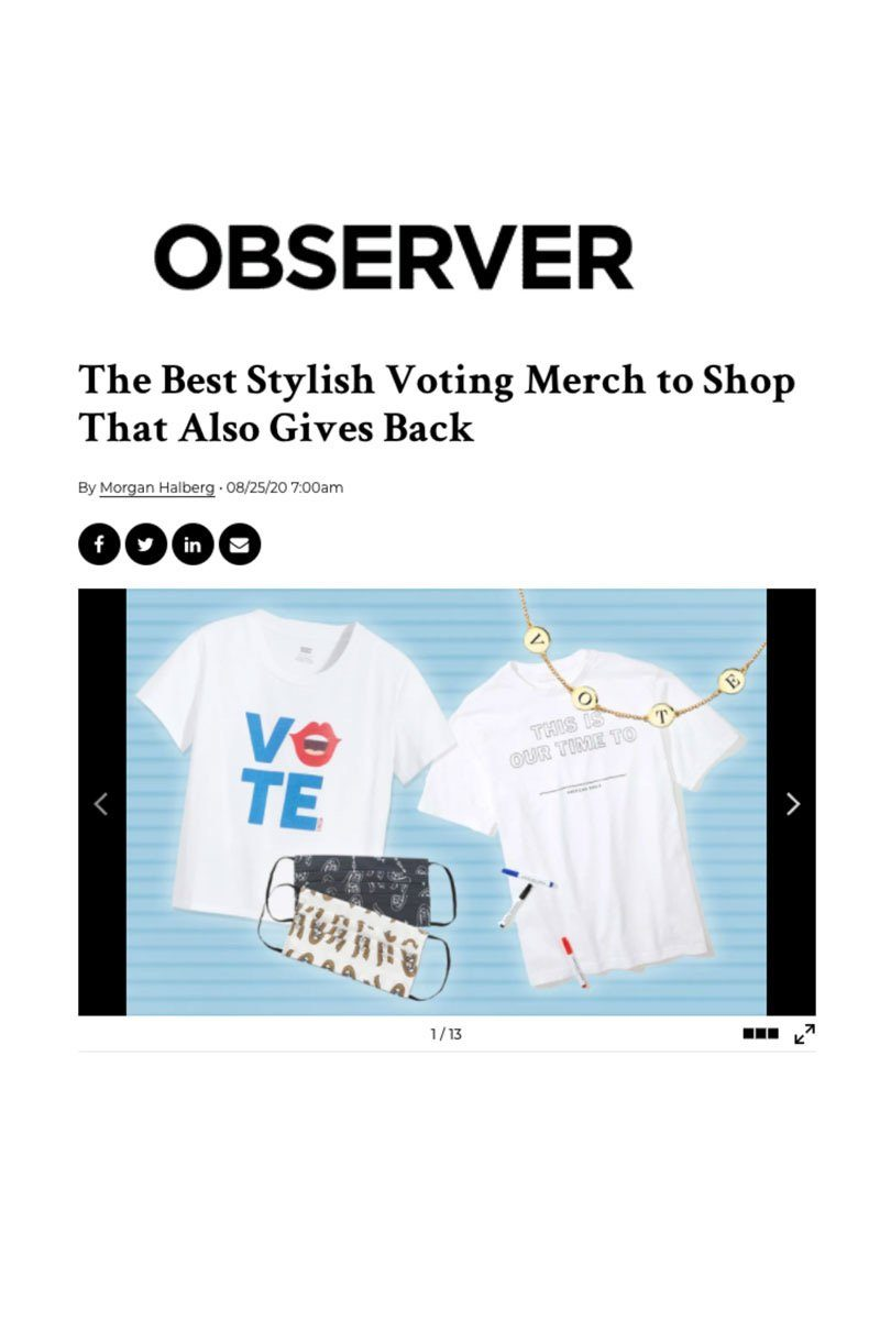 Observer: The Best Stylish Voting Merch to Shop That Also Gives Back