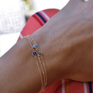 Solitaire Birthstone Bracelets
