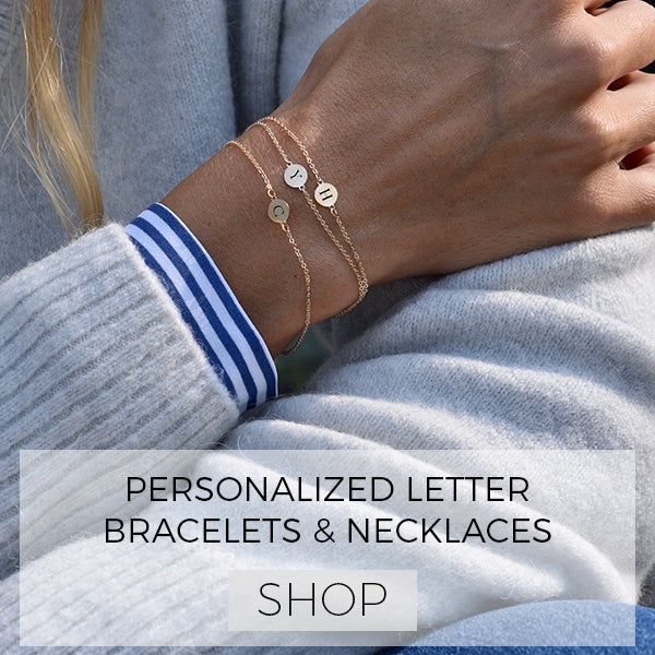 Personalized Letter Necklaces and Bracelets