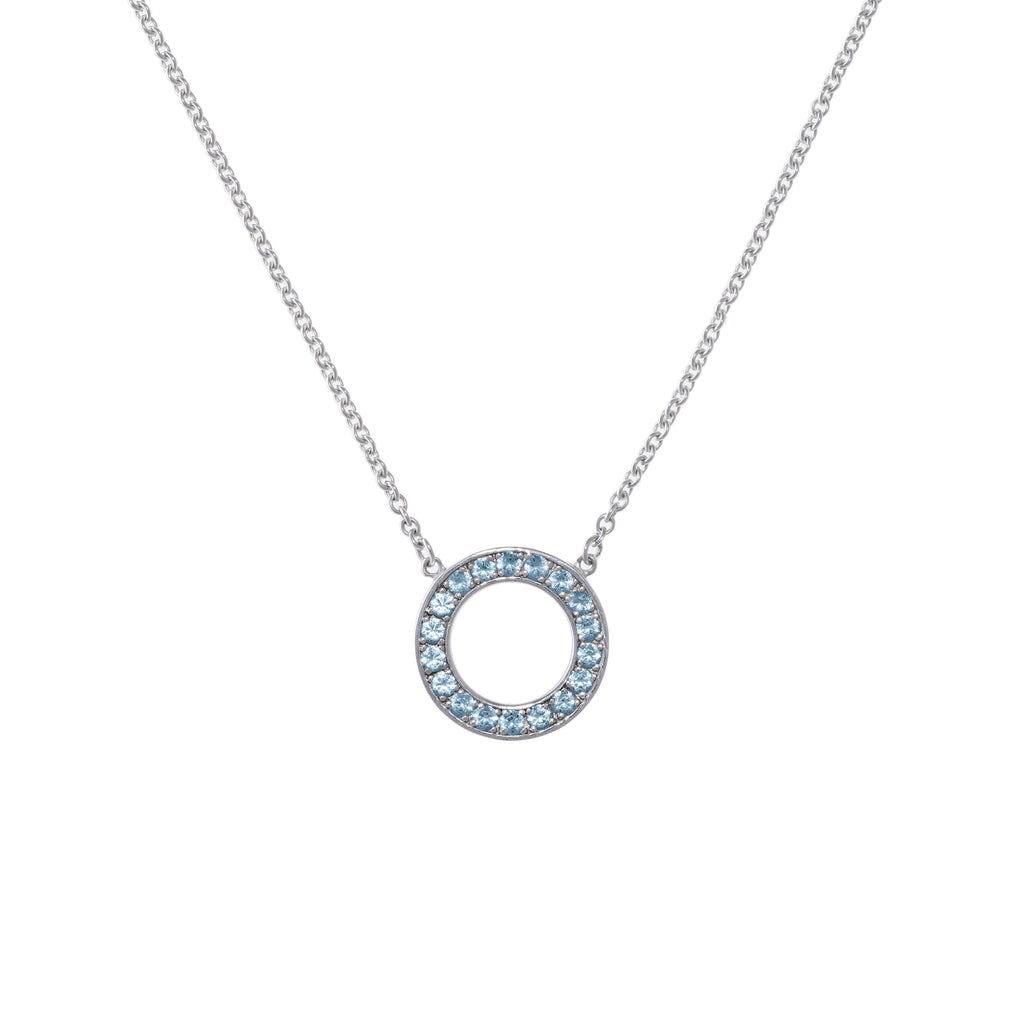 Helena Necklace in Nantucket Blue Topaz