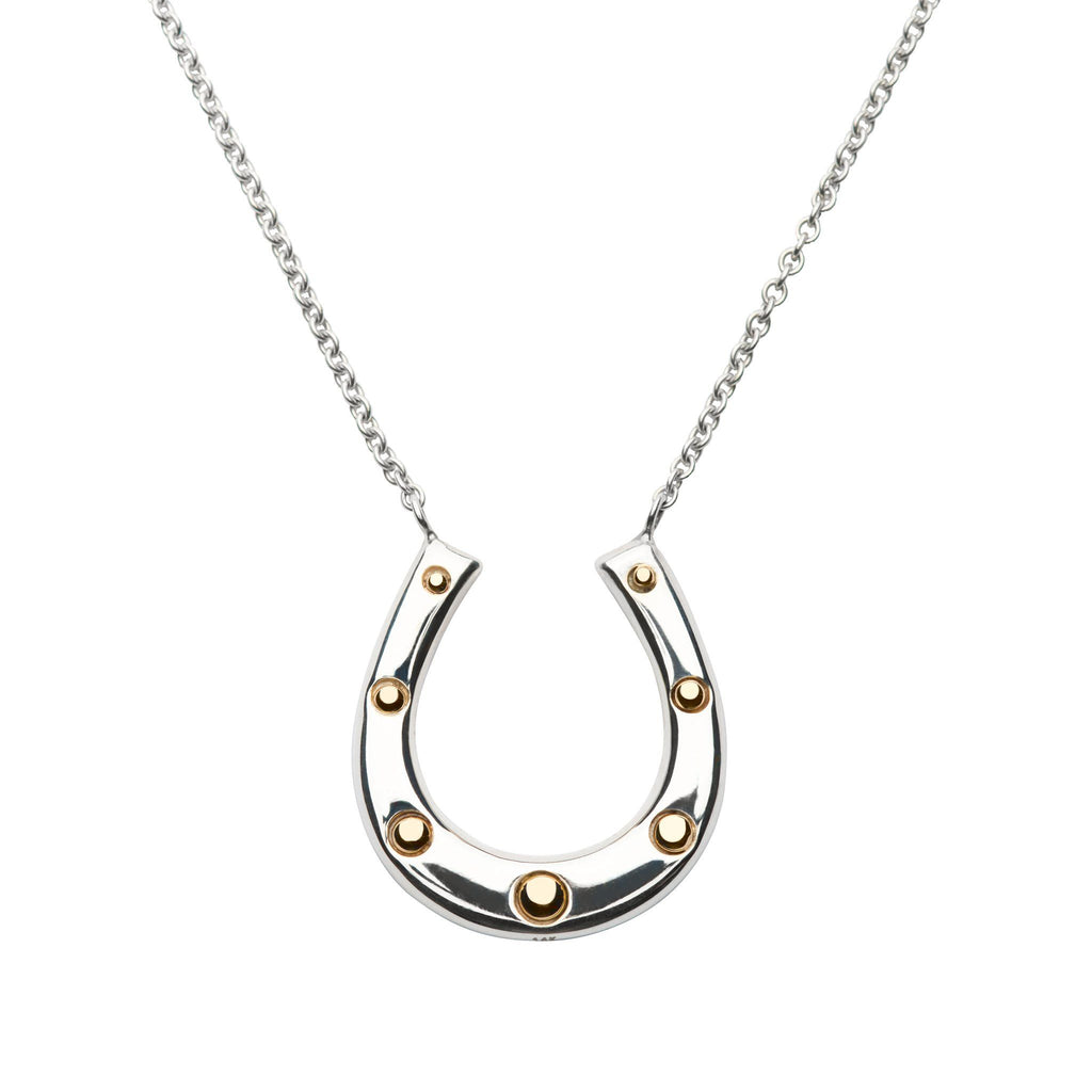 Charley Horseshoe Necklace with Solid Gold