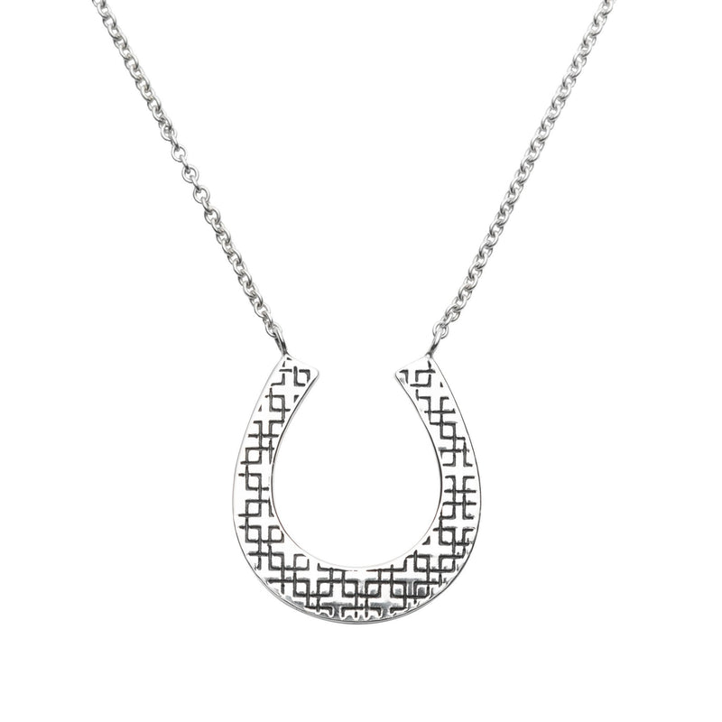 Charley Horseshoe Necklace in Silver
