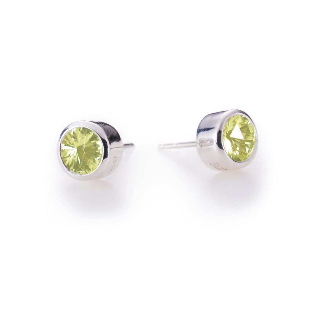 Lang Stud Earrings in Lemon Quartz