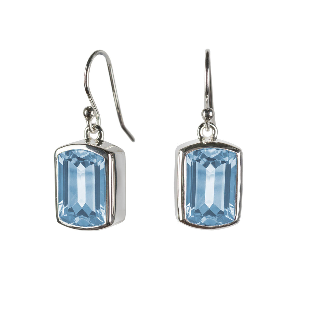 Ventana Earrings in Nantucket Blue Topaz