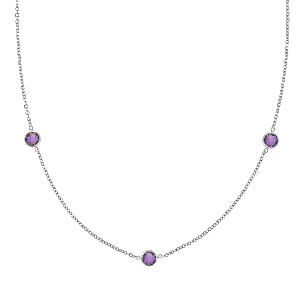 Ardsley Necklace in Silver with Amethyst (February)