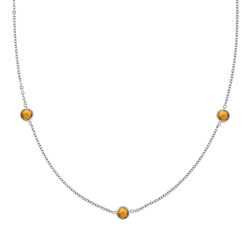Ardsley Necklace in Silver with Citrine (November)
