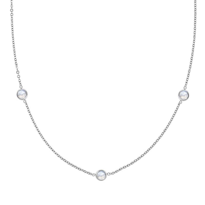Ardsley Necklace in Silver with Moonstone (June)