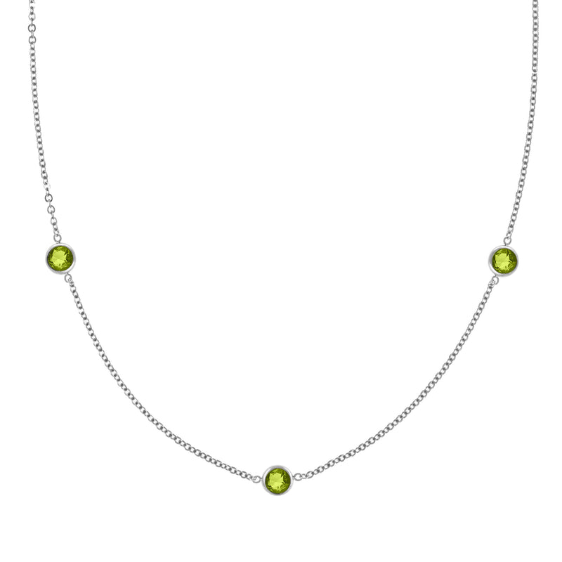 Ardsley Necklace in Silver with Peridot (August)