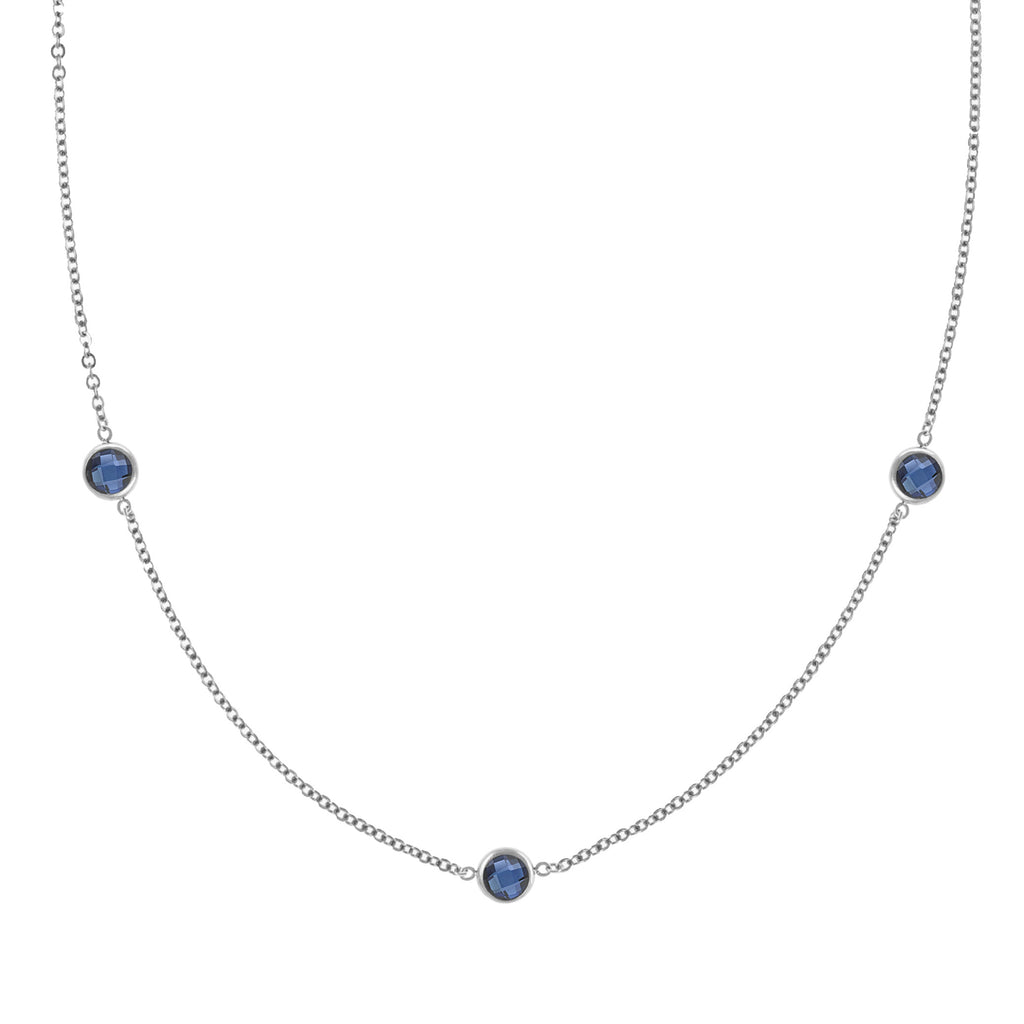 Ardsley Necklace in Silver with Sapphire (September)