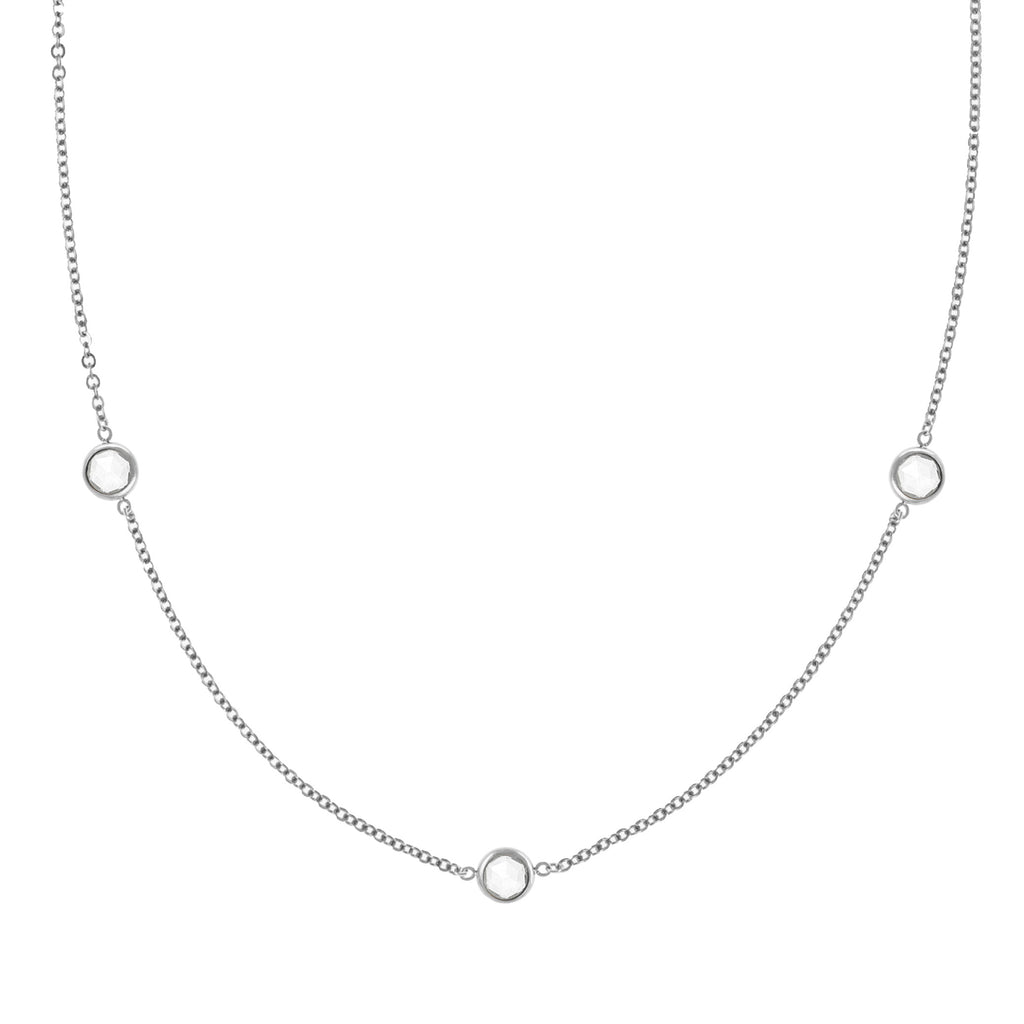 Ardsley Necklace in Silver with White Topaz (April)