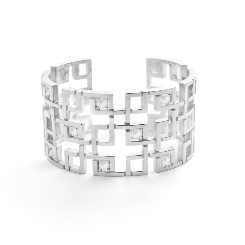 Aston Cuff in White Mother of Pearl