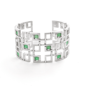 Aston Cuff in Mint Chrysoprase