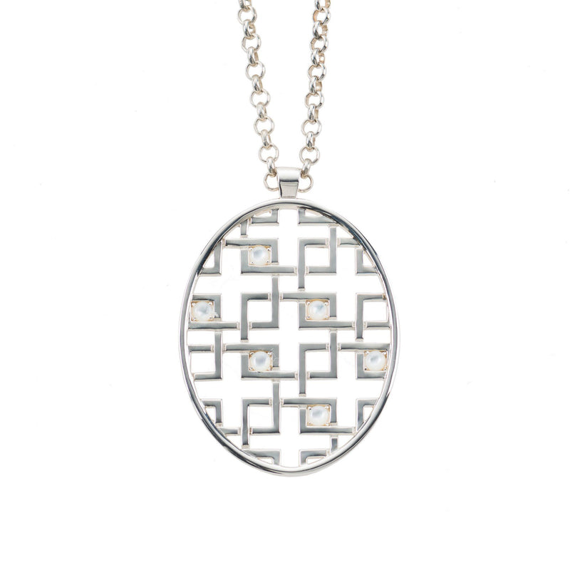 Aston Pendant in White Mother of Pearl