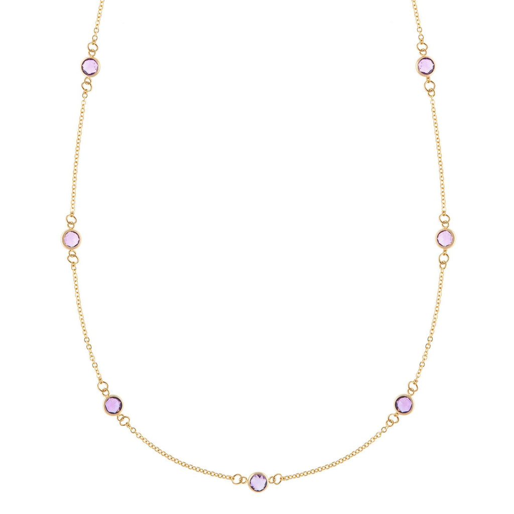 Bayberry Necklace in Gold with Rose de France