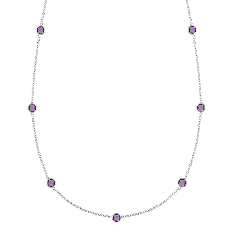 Bayberry Necklace in Silver with Amethyst (February)