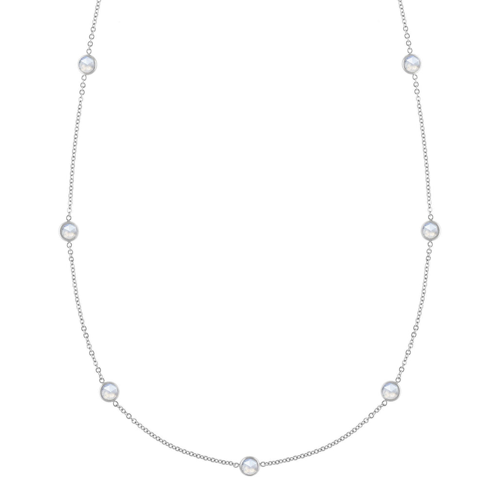 Bayberry Necklace in Silver with Moonstone (June)