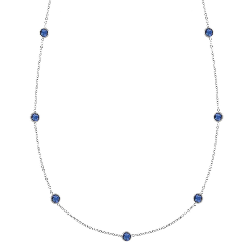Bayberry Necklace in Silver with Sapphire (September)